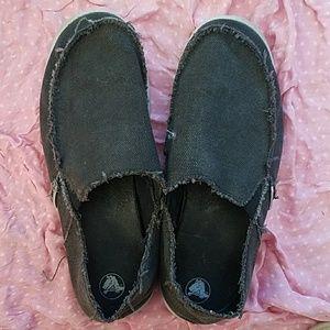 Crocs mens 11 in black slip on